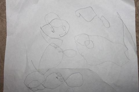 鱼儿的铅笔画