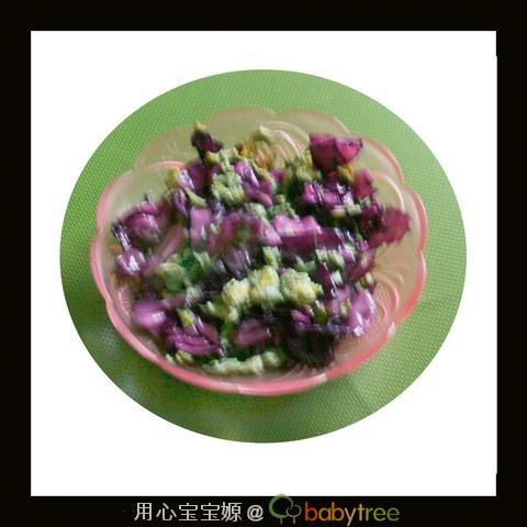 公觉着还可以,宝宝不喜欢吃,不过这菜还挺有营养的,-紫甘蓝炒鸡
