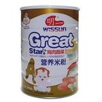 明一α尔法・盾鸡肉蔬菜营养米粉