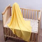 花儿开婴儿浴巾被巾两用毯3220/桔色100*120cm