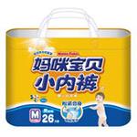 妈咪宝贝小内裤婴儿纸尿裤M男26P