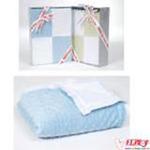 卡米卡玛泡泡毯小号-白/浅蓝100*120cm