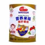 明一猪肝番茄营养米粉500g