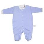 babyglow贝若星体温检测婴儿服蓝色睡衣0-3个月