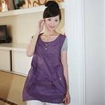 静蕾离子银纤维防辐射孕妇装8328紫色L
