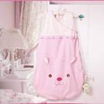 睡王可爱的小兔宝宝精梳棉无袖造型长款婴幼儿宝宝睡袋50*90CM