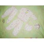 贝尔琦新生儿内衣五件套-粉红