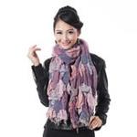 柏汇优品加厚保暖意大利风情长围巾BH3232粉紫色