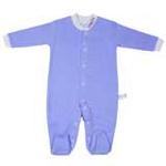 babyglow贝若星体温检测婴儿服蓝色睡衣6-9个月