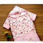 新款童泰3191婴儿睡袋冬款加厚儿童睡袋防踢被秋冬带袖宝宝睡袋粉色