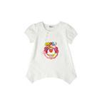 童壹库摩尔系列女童不规则下摆T恤MTWF025201基础白160