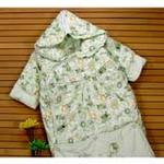 新款童泰3191婴儿睡袋冬款加厚儿童睡袋防踢被秋冬带袖宝宝睡袋绿色
