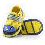 哈利宝贝夏季透气护脚防滑凉鞋可爱笑脸B185黄色18码/14cm