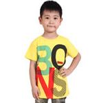 雪精灵男童短袖T恤X1-72136黄色/150