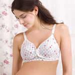 孕好时光纯棉印花前开扣孕妇内衣文胸Y1011白色印花85B