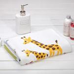日本内野ACCOTOTO海天大地动物单面纱布浴巾-白色
