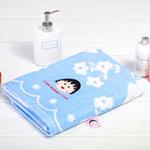 日本内野樱桃小丸子微笑浴巾-蓝色