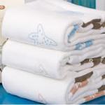 AngelDream安歌吉姆竹纤维水族毛巾蓝色印花AD3C-BR