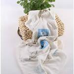 AngelDream安歌吉姆竹纤维水族浴巾蓝色印花AD3D-BR