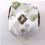 AngelDream安歌吉姆竹纤维水族方巾绿色印花AD3A-BR