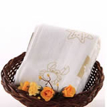 AngelDream安歌吉姆竹纤维水族方巾咖啡色印花AD3A-BR