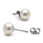 欧奈ONICE戴珍珠耳环的少女耳钉白色