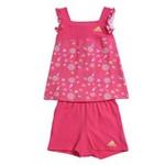 阿迪达斯adidasw45269女婴童夏日套装超群粉/尊贵黄104