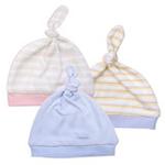 FLUREBABY纯棉双层婴儿单揪帽粉