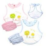 FLUREBABY高科技抗菌防水罩衣护袖组合/粉