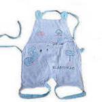 FLUREBABY吸汗透气纯棉婴儿肚兜2条装0-1Y蓝