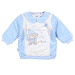 E-baby如意宝贝滑冰派克肩开保暖上衣E115162浅蓝/80