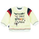 E-baby如意宝贝探险小英雄保暖上衣E115155米白/100