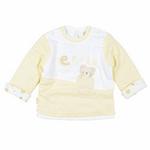 E-baby如意宝贝滑冰派克圆领保暖上衣E115164浅黄/100