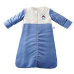 琪凯宝宝天鹅绒系列男婴睡袋长袖款115076蓝色66cm