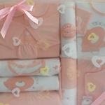 宝艺新款春款纯棉带抱被15件套宝宝大礼包2058黄色/均码