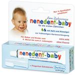 昵昵乐nenedent 德国原装儿童牙膏进口无氟可吞咽婴幼儿宝宝牙膏20ml 0-2岁