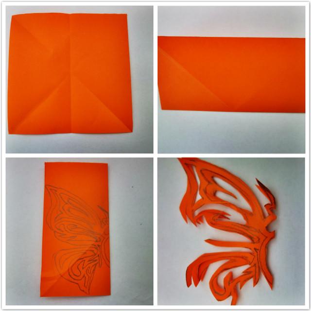 复杂对折剪纸图片