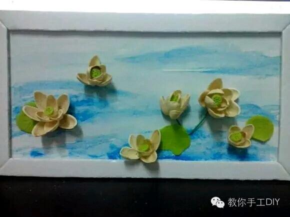 藕剪贴画-果壳DIY创意粘贴画