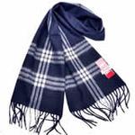 恒源羊绒羊毛加厚保暖男士长围巾礼盒装SFBX180-83藏蓝色